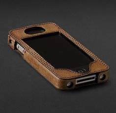 men Artisan Leather iPhone® 4, 4S & 5 Covers - Camel | Stocking Stuffers | Restoration Hardware