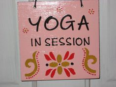 'Yoga In Session' & 'Namaste' door sign. Gift idea for a yoga lover. by quiltbarnsandfolkart