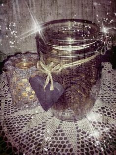 Christmas decoration. Pinecones in a jar. <3