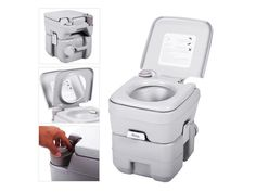 5 Gallon 20l Portable Toilet Flush Travel Camping Commode Potty Outdoor Indoor Newegg Com Portable Toilet For Camping Camping Toilet Portable Toilet