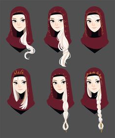 Some hair concepts/cowl pattern designs for Chandra. Female Character Design, Character Design References, Character Drawing, Character Design Inspiration, Character Concept, Concept Art, Fantasy Inspiration, Animation Character, Dnd Characters