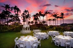 Sunset #wedding reception at the Sheraton Maui Resort and Spa #SPGDreamWedding #SPGWeddings