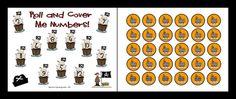 Math roll and cover game Ketchen's Kindergarten: Shiver Me Timbers. Kindergarten Math, Teaching Math, Preschool Pirate Theme, Family Math Night, Pirate Crafts, Pirate Day, Curriculum Planning, School Themes, Fun Math