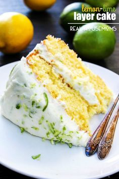Spring has come early with this LEMON-LIME LAYER CAKE - a beautiful layer lemon cake with lime buttercream!