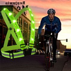 Outdoor Sport Running LED Lights Camping Cycling Flashlight Warning USB Charge Chest Lamp Straps Reflective Vest Safety Clothing #jewelry, #women, #men, #hats, #watches