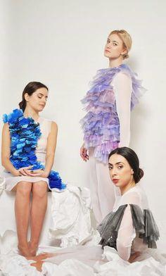 Giulia Tano 2014 graduation collection - plastic experiment
