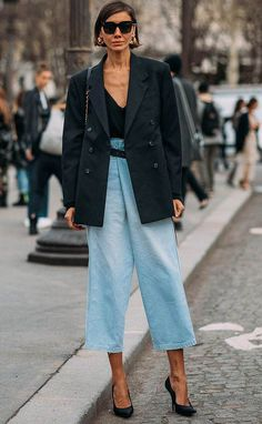 Ways to Style an Oversized Blazer Oversized blazer / street style fashion / Fashion week Street Style Trends, Look Street Style, Street Chic, Men Street, Autumn Street Style, Street Styles, Fashion Mode, Look Fashion, Fashion Outfits