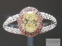 Here is a beautiful oval shape diamond Ring. Fantastic cutting and it is a truly beautiful SI2 Yellow Diamond.