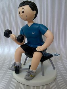 Personal trainer by Tutti I Colori! Contato: debcorreia81@yahoo.com.br, via Flickr Fondant Animals Tutorial, Fondant Tutorial, Birthday Cakes For Men, Cakes For Boys, Fondant Cake Toppers, Fondant Cakes, Personal Trainer, Fitness Cake, Gym Cake