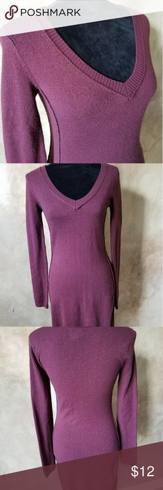 Cute sweater dress by Converse This dress is a deep maroon color and sweater material. Super soft with a perfect fit! Converse Dresses Midi