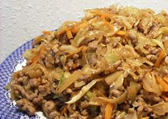 Asian ground pork & cabbage skillet dinner... I would totally make this with ground turkey for a healthier LOW CARB meal.