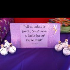 Everyone left my daughter's tinkerbell birthday party with a jar of fairy dust