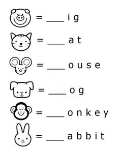 FREE Printable Word Beginnings Letter Literacy Worksheet for Preschool