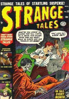 Strange Tales # 12 by Sol Brodsky Vintage Comic Books, Vintage Comics, Horror Comics, Scary Comics, Horror Art, Marvel Comics, Marvel Masterworks, Jim Steranko, Tales Of Suspense