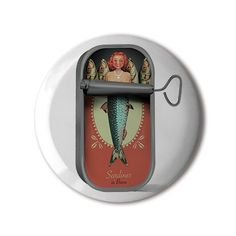 #BBOTD Stereohype #button #badge of the day by Brett Ryder https://www.stereohype.com/758__brett-ryder #mermaid #sardines