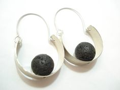 """Thanks for the kind words! ★★★★★ """"Very nicely designed and shipment was received quickly."""" Christine D. https://etsy.me/2yqFSkZ #etsy #jewelry #earrings #silver #no #girls #black #lovefriendship #semicircle #anniversary"""