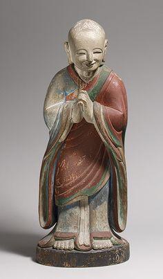 Statue of Kashyapa, Joseon dynasty (1392–1910), dated 1700  Korea  Wood with polychrome