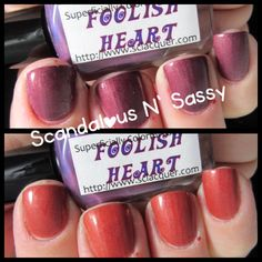 Superficially Colorful Lacquer Foolish Heart thermal compare  Thermal is starting to go  $3+SH