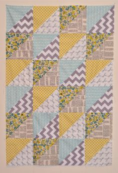 Sew Lux Fabric : Blog: Design Challenge Tutorial : Quick Triangles Baby Quilt