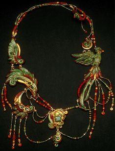 "Necklace   Christi Friesen.  ""Quetzalcoatl Calls"""