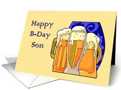 Happy Birthday Beer to Son card