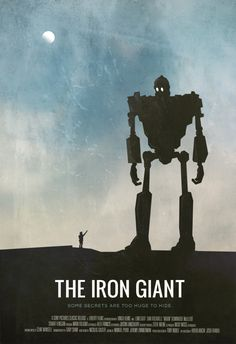 Awesome poster for 'The Iron Giant.' One of my favorite movies. Beau Film, Good Movies On Netflix, Great Movies, The Iron Giant, Alternative Movie Posters, Image Of The Day, Movie Poster Art, Film Serie, Minimalist Poster