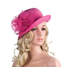 Pure Color 1920s Womens Summer Organza Bowler Sun Hat Derby Tea Party A267 (Hot Pink) Generic http://www.amazon.com/dp/B00WJK585G/ref=cm_sw_r_pi_dp_408Mwb1RYME0M