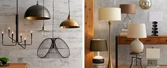 The right lighting can set the mood in a moment. Here are some home lighting ideas to create a dramatic setting for you and your guests. Dramatic Lighting, Overhead Lighting, Bedroom Lighting, Home Lighting, Lighting Ideas, Bronze Pendant Light, Task Lamps, Types Of Lighting, Crate And Barrel