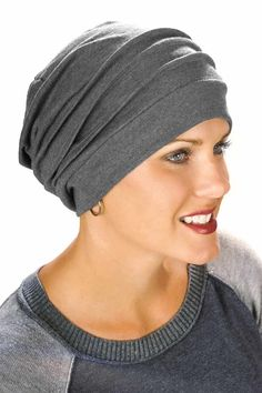 100% Cotton Slouchy Snood Chemo Cap - Hats for Cancer Chemo Patients Charcoal Heather: Amazon.ca: Sports & Outdoors