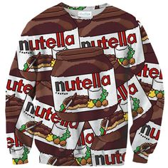 I want like, 10 of them     Pixel Nutella Sweater – Shelfies - Outrageous Clothing