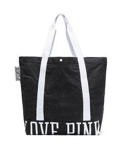 Bolso tote de lona lavada - PINK - Victoria s Secret Tote Bag With Pockets 6e2f03f8ada43