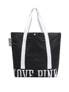 Bolso tote de lona lavada - PINK - Victoria s Secret Tote Bag With Pockets 9341ef21eb35b