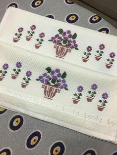 Çiçekli havlu örneği