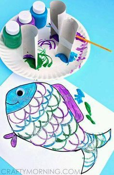 paper roll crafts paint