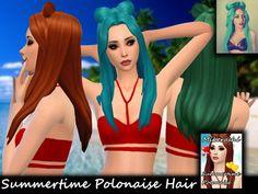 Summertime Polonaise Hair at Mikerashi via Sims 4 Updates