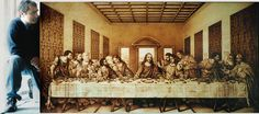 Simply Creative: Pyrography Self-taught artist Dino Muradian, or Dumitru Muradian invented a new technique that burns the wood with shading at a very high temperature. Last Supper Photo, The Last Supper Painting, Jesus Christ Painting, Framed Prints, Canvas Prints, Wood Burning Patterns, Eye Art, Rare Photos, Art Pages