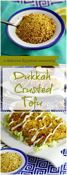 Dukkah Crusted Tofu ~ Add a little Middle Eastern flavor with this wonderful seasoning from Egypt ~ Inspired by Donna Hay and I Heart Cooking Clubs ~ Lydia's Flexitarian Kitchen