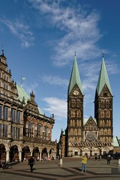 Bremen, Town hall & Bremer Dom (Cathedral) where we got engaged! Bremen Germany, Maybe Someday, Iglesias, Town Hall, Kirchen, Cathedrals, Far Away, Dream Vacations, Beautiful World