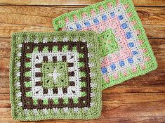 Free Caterpillar Square Crochet Pattern …. such a fun and color happy afghan square!