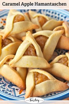 Caramel Apple Hamantaschen Filling - An aromatic fruit center for Purim cookies sweetened with dulce de leche. | ToriAvey.com #cookies #dairy #kosher #dessert #hamantaschen #holidaycookies #purim #cookiefilling #hamanshats #howto #kitchentips #purimcookies #cookieartistry #nomnom #dessert #baking #bakingproject #bakethis #todayIlearned #holidayproject #jewishholidays #dulcedeleche