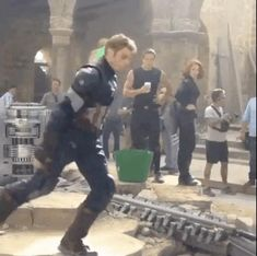 Andy Lister , the stunt double of Cap