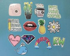Tumblr stickers (pack of 13) - laptop sticker / iphone sticker / fun stickers / teen stickers / decorative stickers