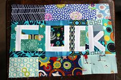 """""""give a f*ck"""" quilt block i think my madde would like this kind of quilting! Pattern Blocks, Block Patterns, Sofa King, Crafty Craft, Crafting, I Am Happy, Paper Piecing, Cross Stitching, Quilt Blocks"""