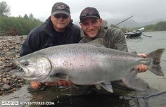 River fishing for steelhead and salmon on the trophy waters of the Skeena and Kitimat Rivers
