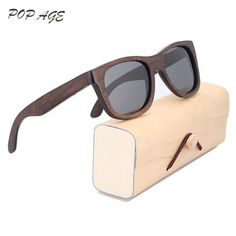 Polarized Sunglasses Wood Frame Sun Glasses Gray UV400 Polaroid Lenses  Sunglass Vintage Oculos de sol Mens 9e28ac6b94