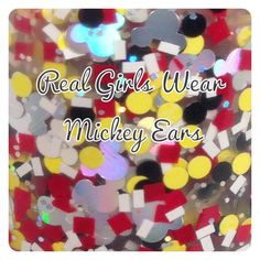 Real Girls Wear Mickey Ears custom hand crafted by justricarda