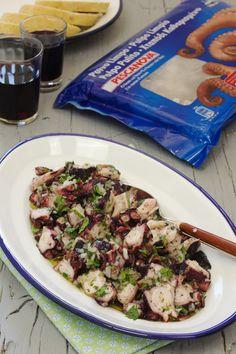 Cinco Quartos de Laranja: Salada de polvo com coentros