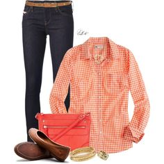 """""""Preppy Gingham"""" by tmlstyle on Polyvore"""
