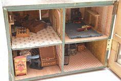 Vintage Doll House Ht. 24' W. 21' D. 24'