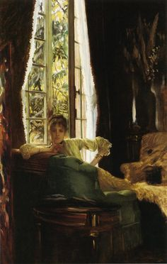 The Athenaeum - Study for (James Tissot - )Study for (also known as Woman in an Interior) James Tissot (1883-1885) Painting - oil on canvas  Owner/Location: Unknown Dates: circa 1883-1885 Artist age:Approximately 49 years old. Dimensions: Height: 111.13 cm (43.75 in.), Width: 68.58 cm (27 in.) Medium: Painting - oil on canvas